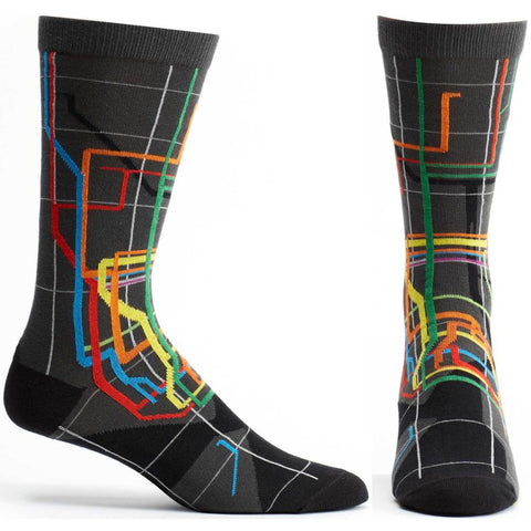 Vignelli Diagram Subway Men's Socks