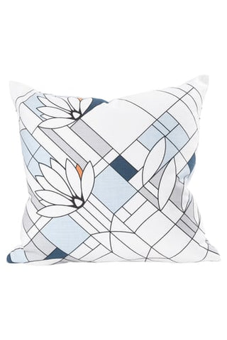 Printed Waterlilies Pillow