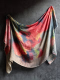 Red Poppy Linen Scarf