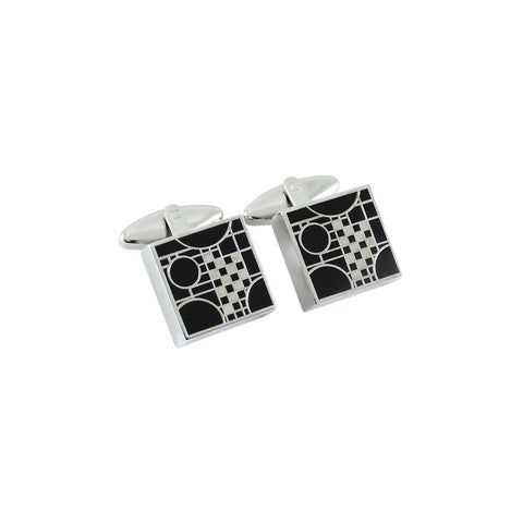 "FLW ""Playhouse Black"" Cufflinks"