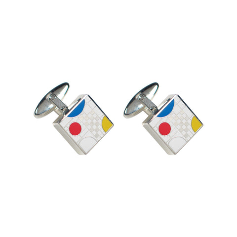 Playhouse White Cufflinks