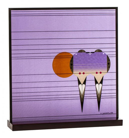 "Charley Harper's ""Lovey Dovey"" Art Glass"