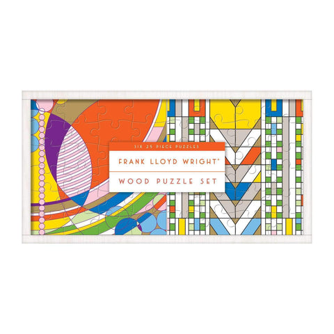 Frank Lloyd Wright Wooden Jigsaw Puzzle Set
