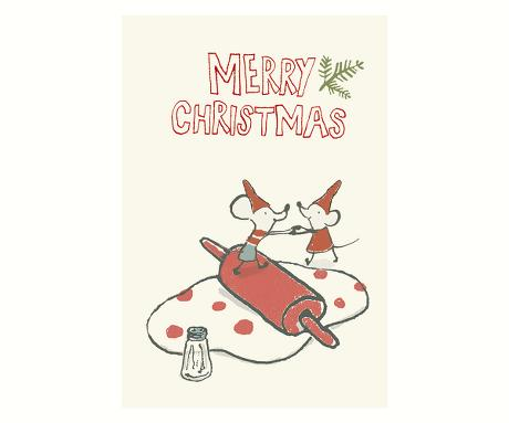 Mice Are Baking Holiday Card