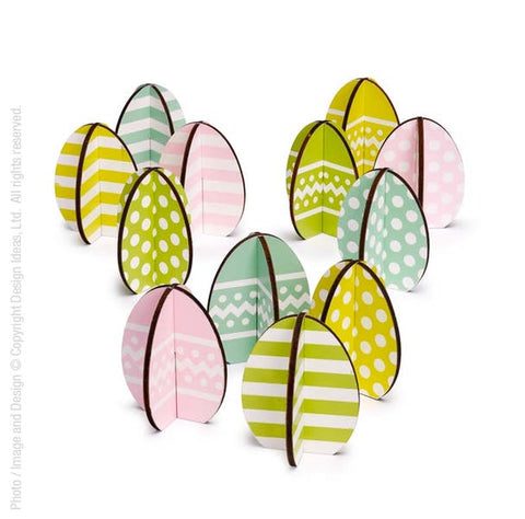 Easterly Decorations. Set of Eight Eggs.