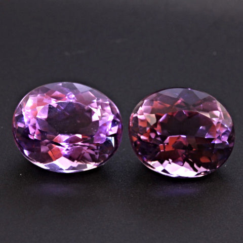 "11.32 Carat Amethyst ""Match Pair"""