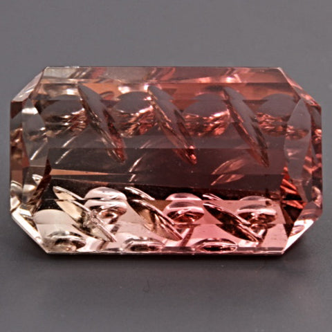 5.84 ct. Bi-Color Tourmaline, Designer Cut, Larry Winn