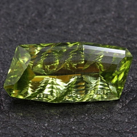 6.10 ct. Peridot, Designer Cut, Larry Winn