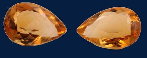 9.95 ct. Citrine (Match Pair)