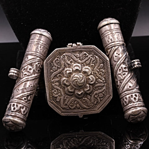 Silver Buddhist Belt Buckle