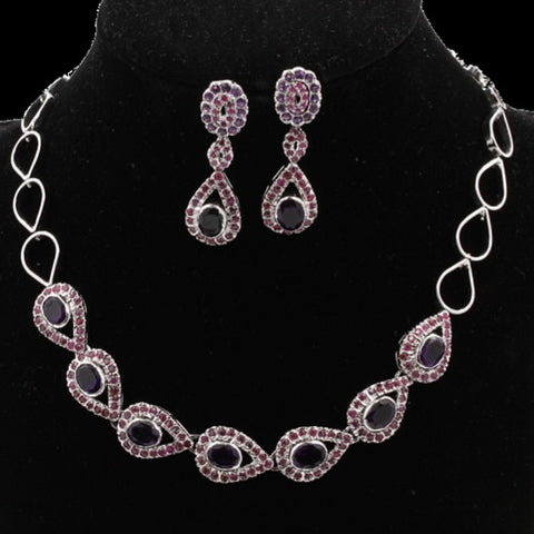 Amethyst & Ruby Necklace Set