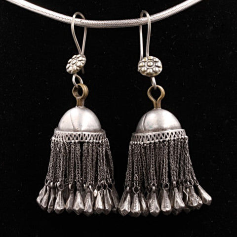 Afghan Silver Earrings