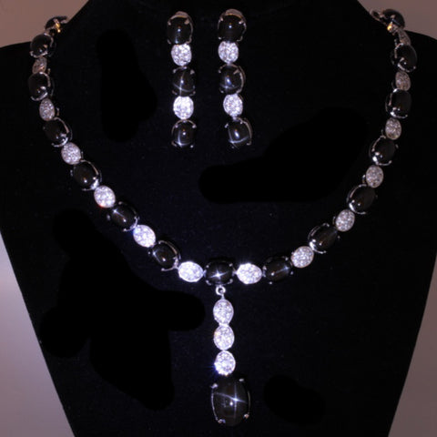 Black Star Diopside Necklace Set