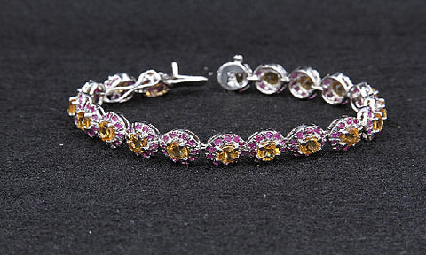 Citrine & Small Ruby Bracelet