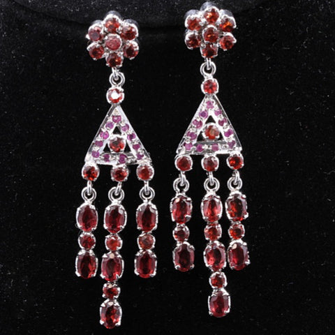 Garnet & Ruby Earrings