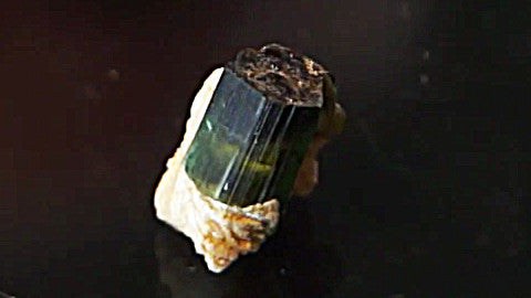 Green Tourmaline on Matrix