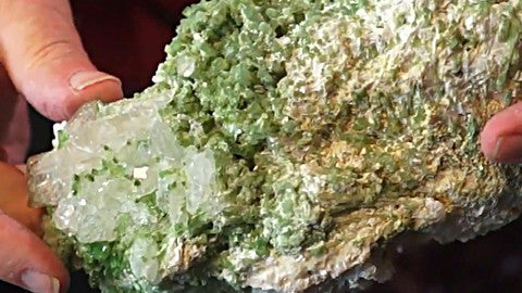 Light Green Tourmaline with Albite and Quartz