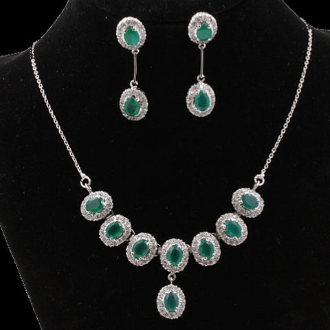 Green Onyx Necklace Set
