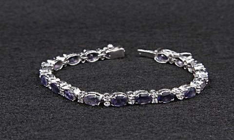 Iolite and cz. Bracelet