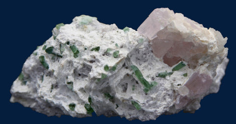 Kunzite, Tourmaline, and Albite