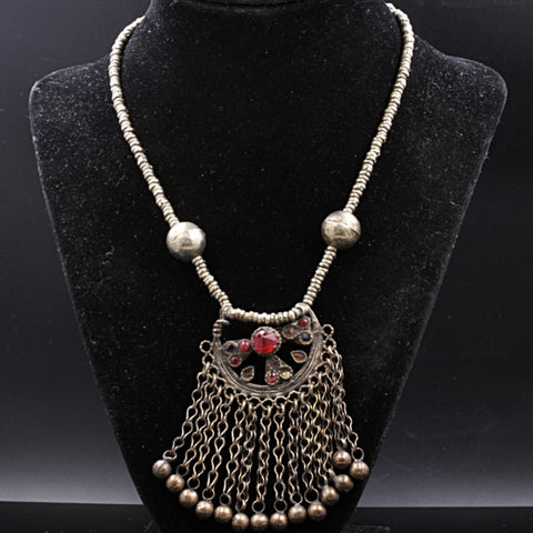 Afghan Mixed Metal Necklace