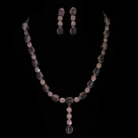 "Moonstone ""Cat's Eye"" Necklace Set"