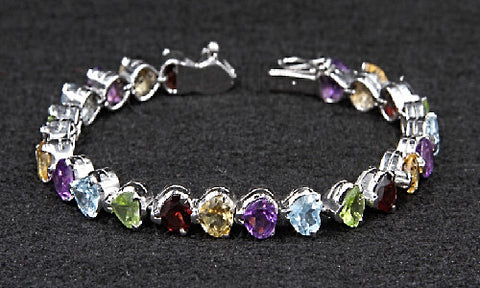 Multi-Stone Heart Shape Bracelet