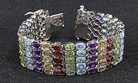 Multi Gemstone Cuff