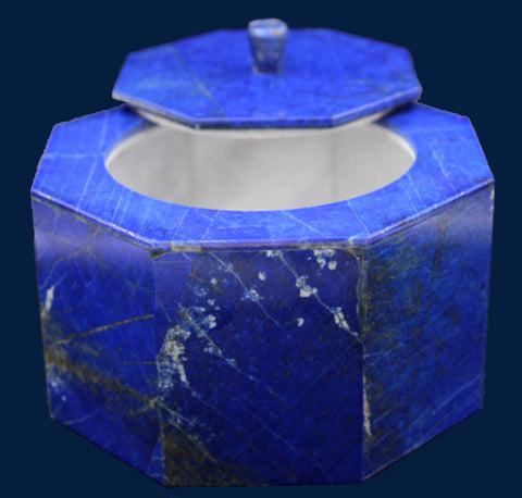 Octagon Shape Lapis Lazuli Box in Marble