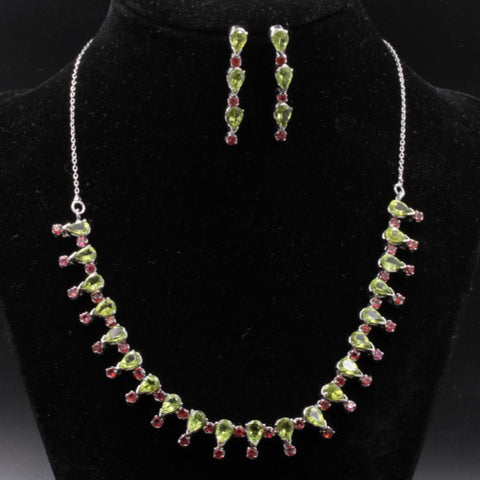 Peridot Necklace Set