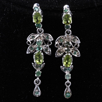 Peridot & Emerald Earrings