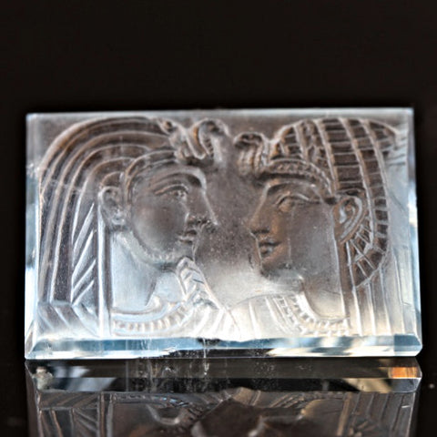 """Pharaohs"" Aquamarine Carving"