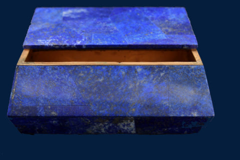 Lapis Lazuli Box with Brass Accent