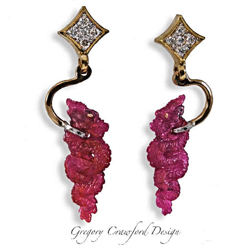 14.91 ct. Ruby Dragons (Pair)