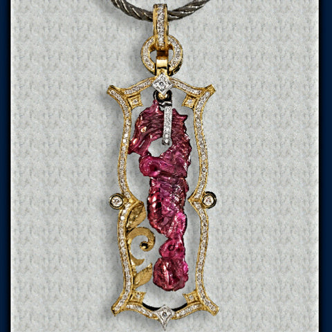 51.43 ct. Ruby Dragon Pendant