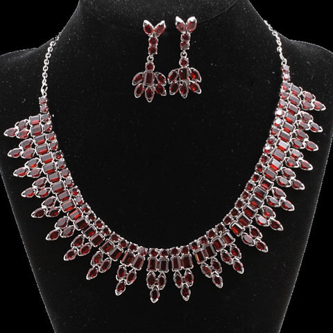 Garnet Necklace Set