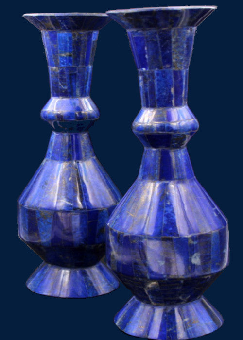 Pair Of Tall Lapis Lazuli Vases The Gem Hunters