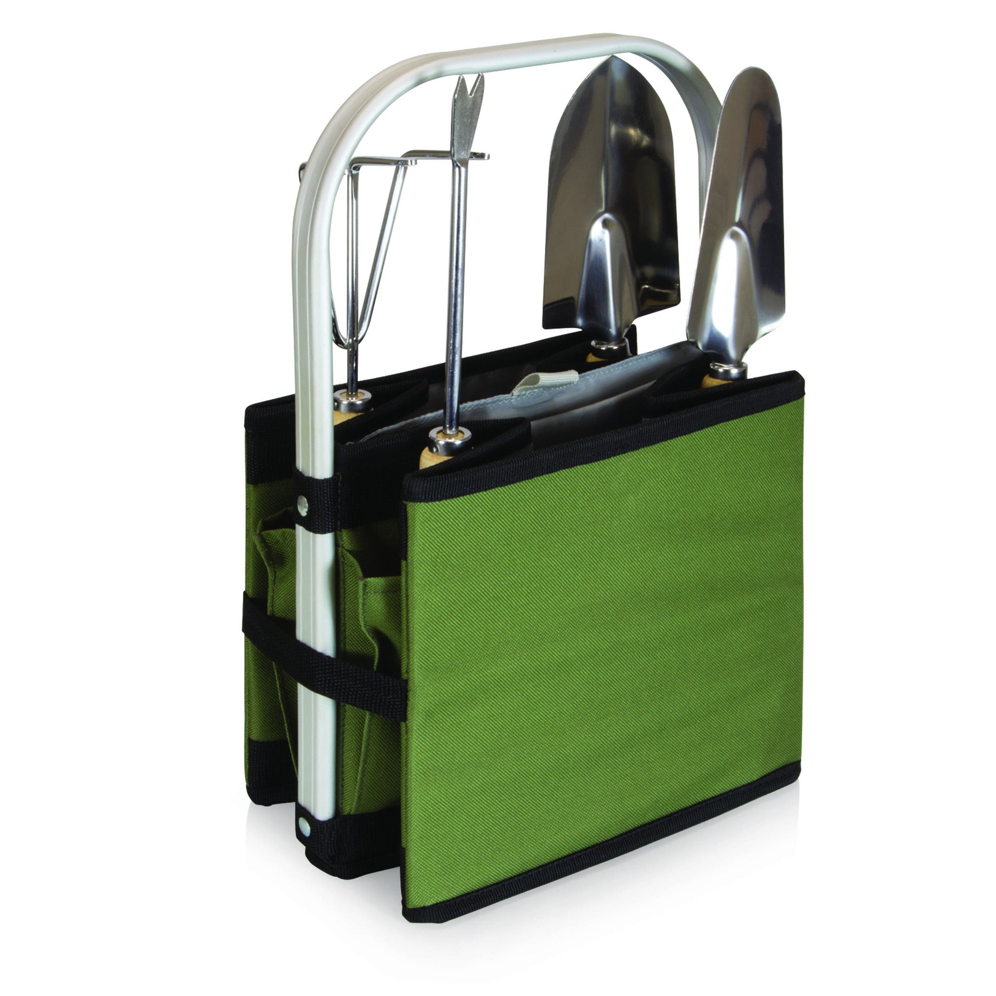 Garden Caddy Collapsible Basket with Tools gobagdepot