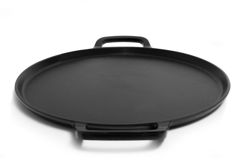 GURO 12 Inch Seasoned Cast Iron Pizza Baking Pan GUS102