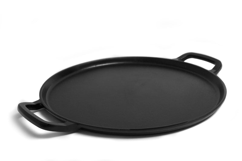 GURO 14 Inch Seasoned Cast Iron Pizza Baking Pan GUS105