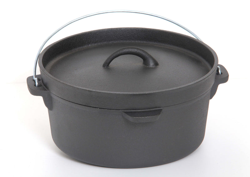 GURO Cast Iron Pre-Seasoned Round Dutch Oven, 4.7QT / 4.5L