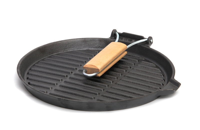 Pre-Seasoned Round Cast Iron Griddle Frypan, 9.8""