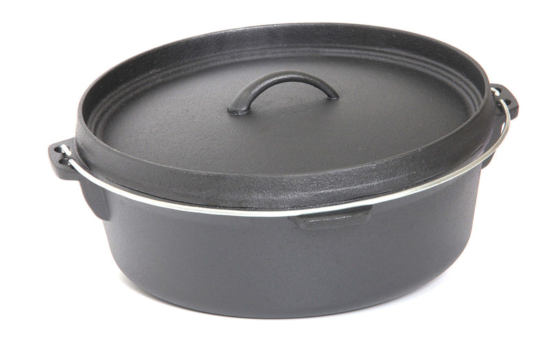 Pre-Seasoned Cast Iron Round Dutch Oven, 8.45QT / 8L