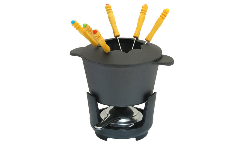 GURO Cast Iron Fondue Set