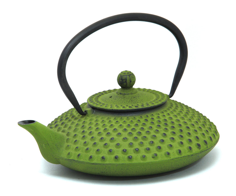 GURO Cast Iron Hira Teapot 41 Ounce, Green