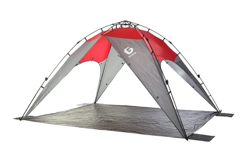 GURO Horizon 8 People Sun Shelter Tent, Red / Grey
