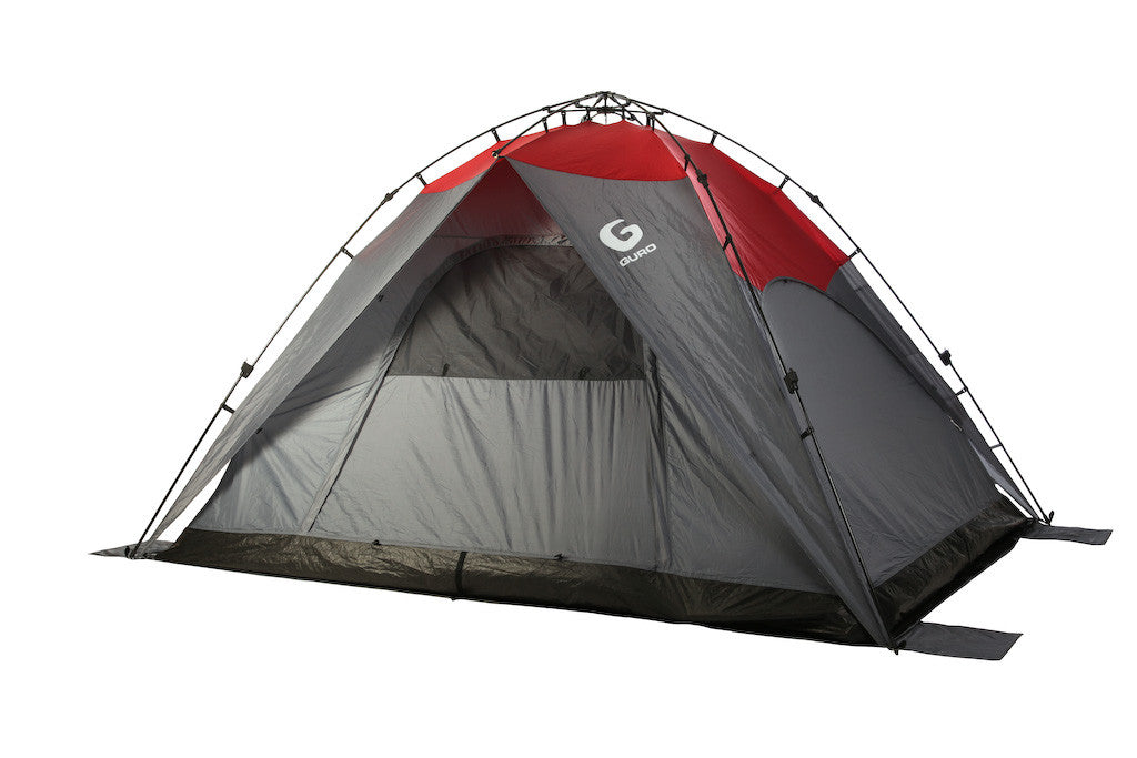 sc 1 st  Guro Cast Iron & GURO Horizon 8 People Sun Shelter Tent Red / Grey