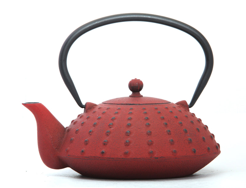 GURO Cast Iron Shinga  Teapot 38 Ounce, Red