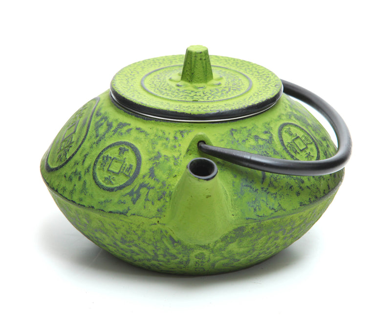 GURO Cast Iron Sigma Teapot 27 Ounce, Green