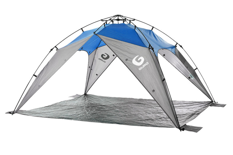 GURO Journey 5 People Sun Shelter Tent, Blue / Grey